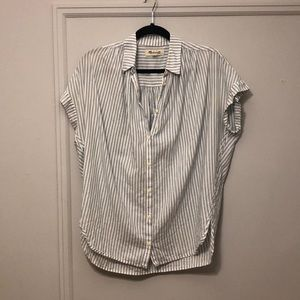 Madewell short sleeve striped button down
